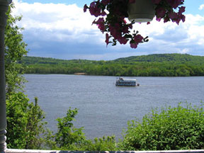 View the River from the porch